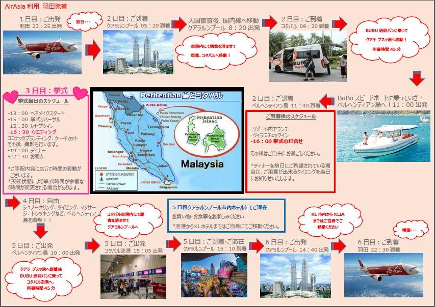 【ペルヘンティアン島・コタバル】AirAsia利用 羽田空港発着プラン