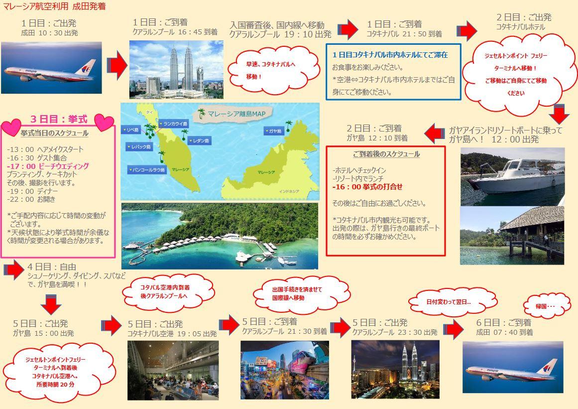 マレーシアウェディング ガヤ島