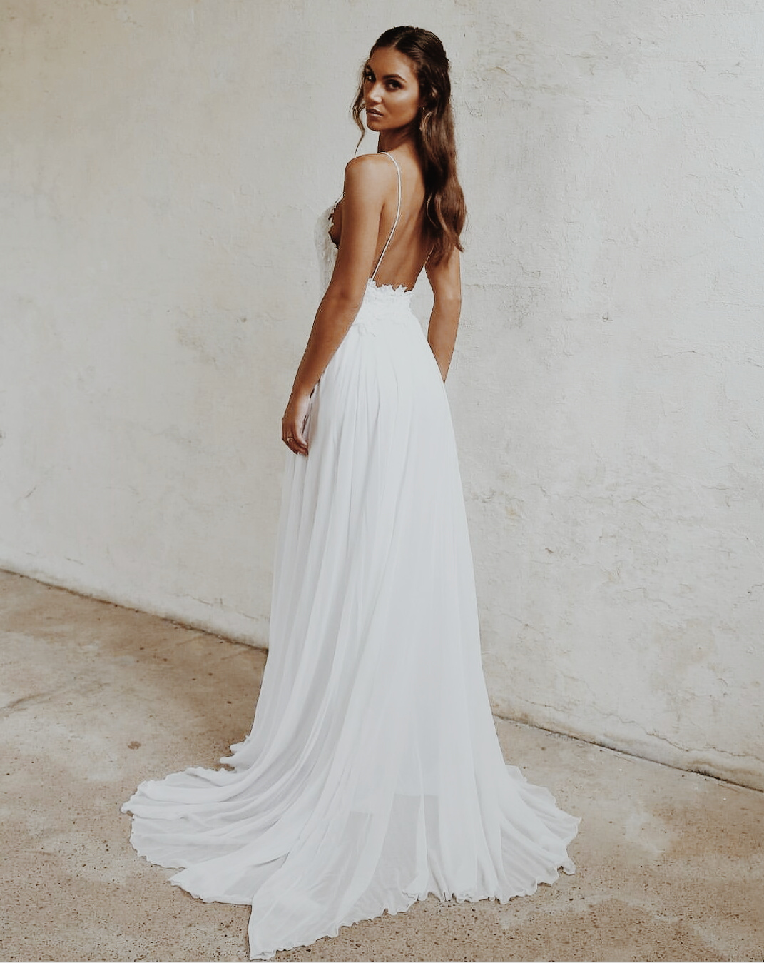 low back gown back less gown open back gown wedding gown trend