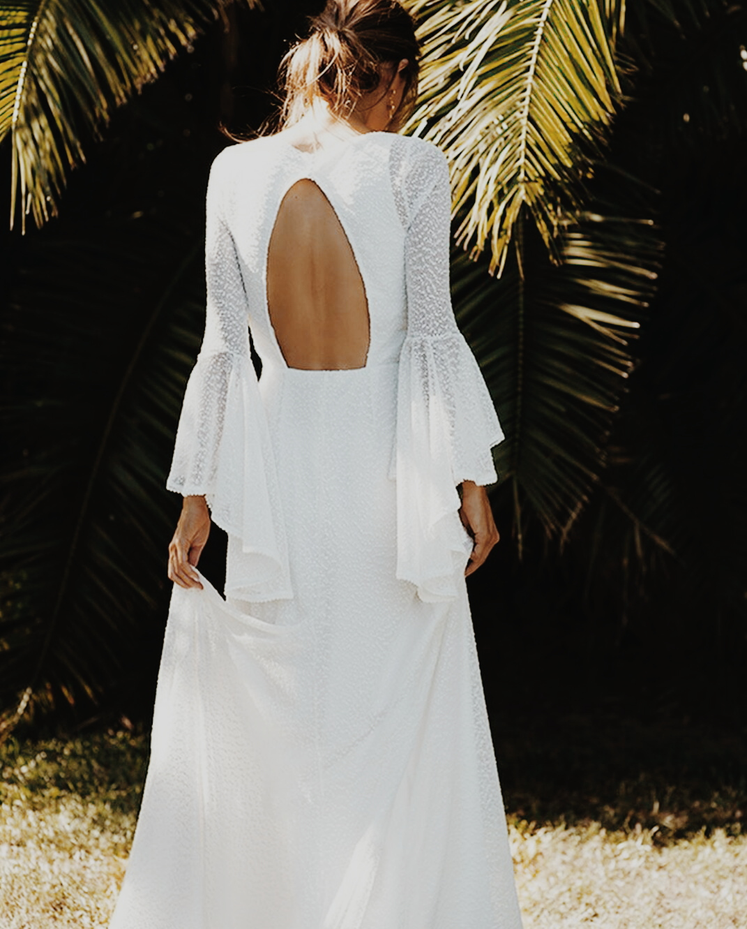 back less gown low back gown open baack gown wedding gown