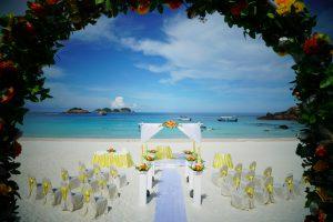 malaysia redang island wedding arch decoration
