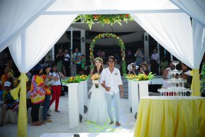 malaysia redan island beach wedding