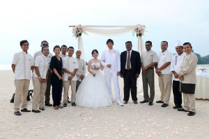 malaysia beach wedding tajung rhu resort